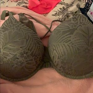 Vs pink bra olive green